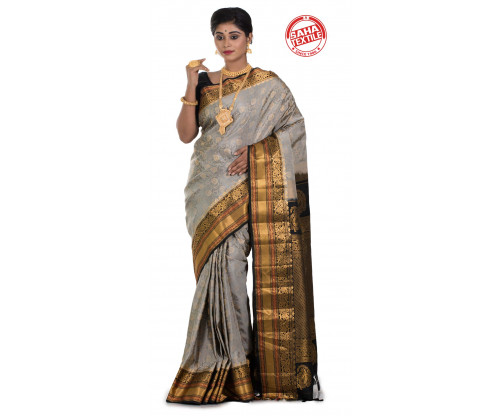 Exclusive Line Pure Silk Gadwal Saree-S7929