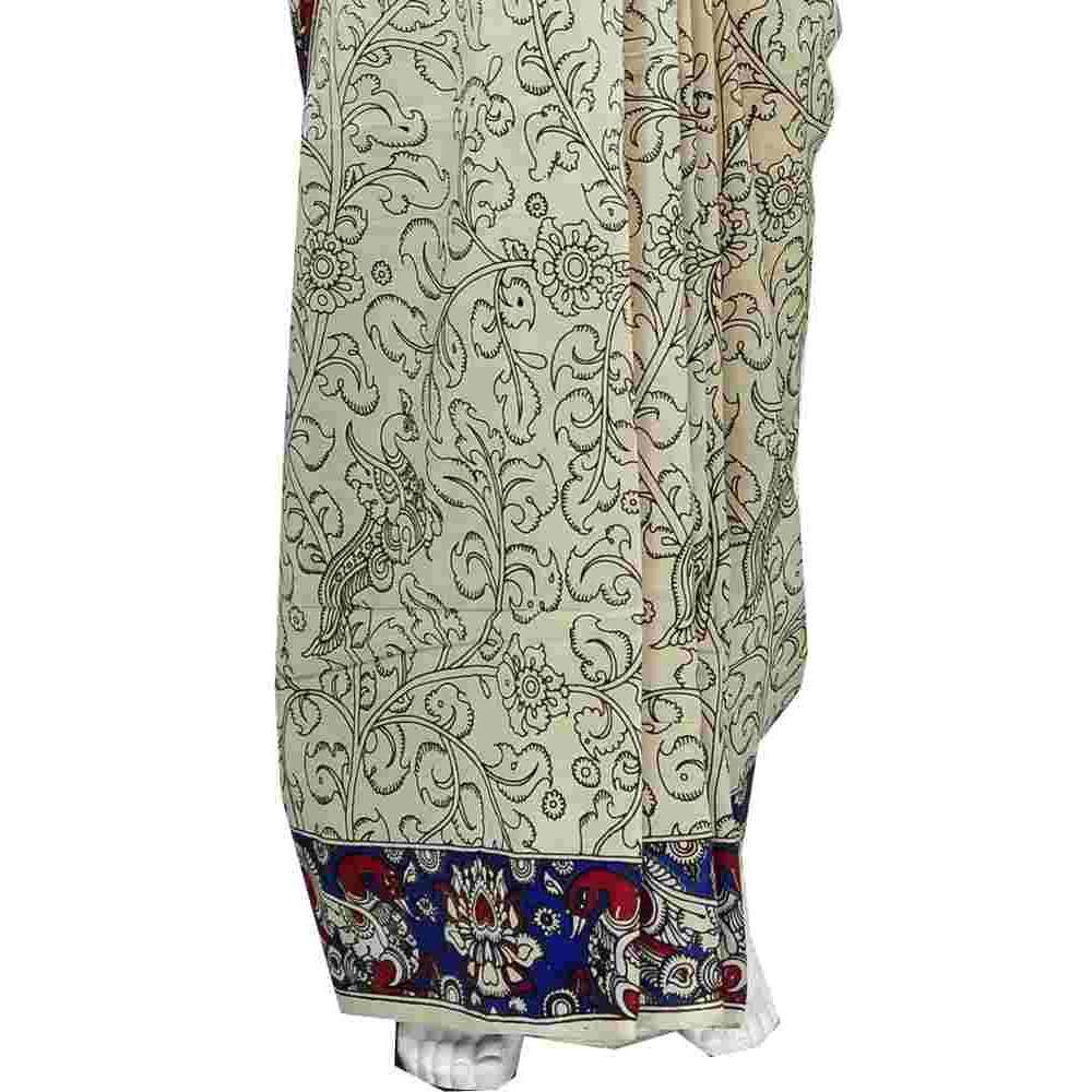 4334dd113072a7 Kalamkari Printed Blouse Designs