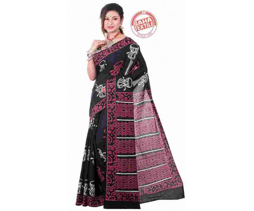 Aranya Printed Soft Cotton Saree-S7081