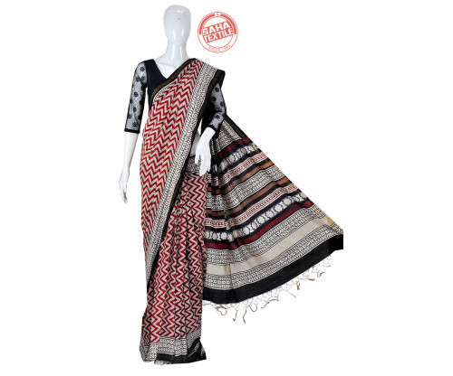 Aranya Chanderi Printed Saree-S1799