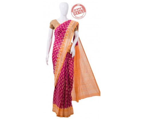 Aranya Cotton Chanderi Saree-S1867B