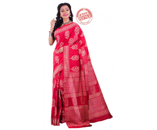 Aranya Printed Soft Cotton Saree-S4902