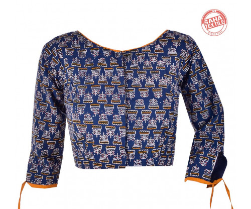 Cotton Printed Blouse-BL178