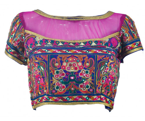 Designer Gujarati Embroidered Blouse - BL44