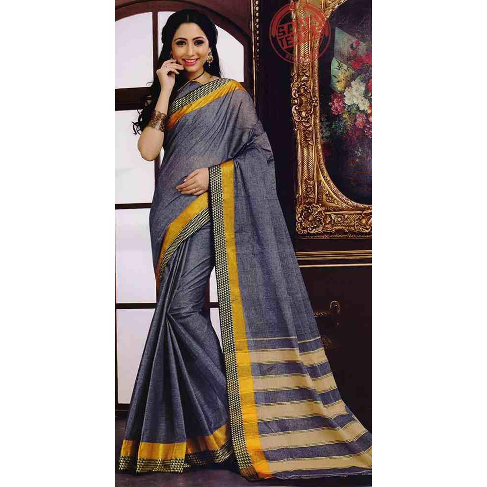 Designer Pure Cotton Saree-S1278