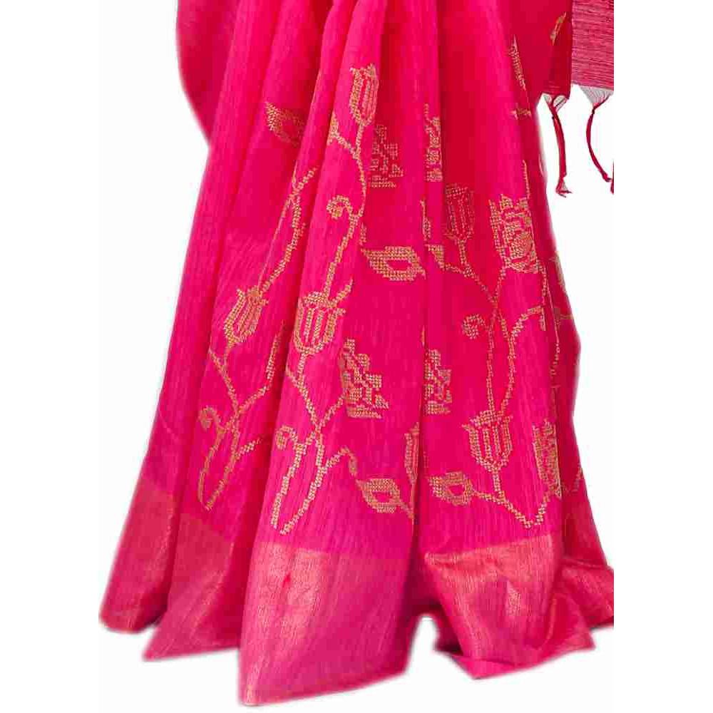 Designer Matkha Saree-S1907