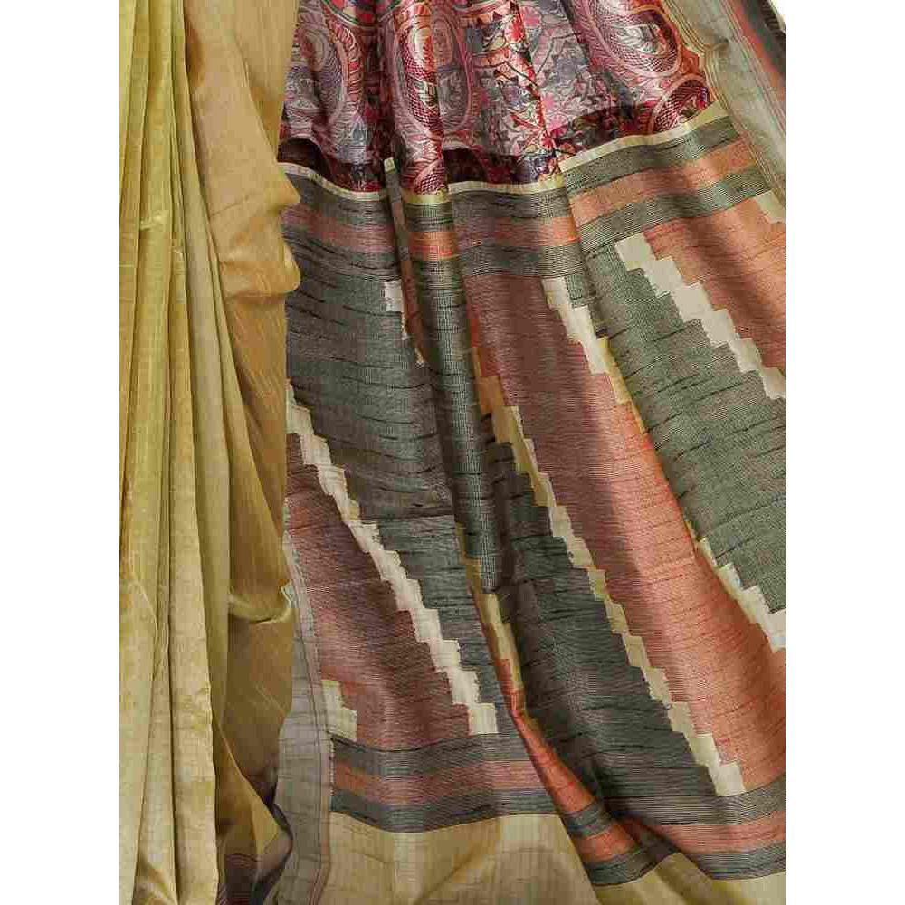 62d89eef12 Designer Madhubani Printed Dupion Silk Saree-S1944