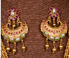 Advika Golden Designer Kundan Necklace Set-J28