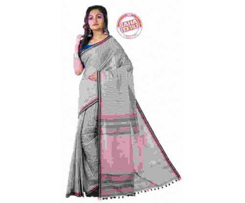 Rabi Pure Handloom Cotton Saree-S4494