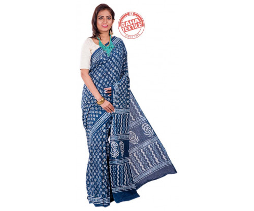 Aranya Printed Soft Cotton Saree-S4780