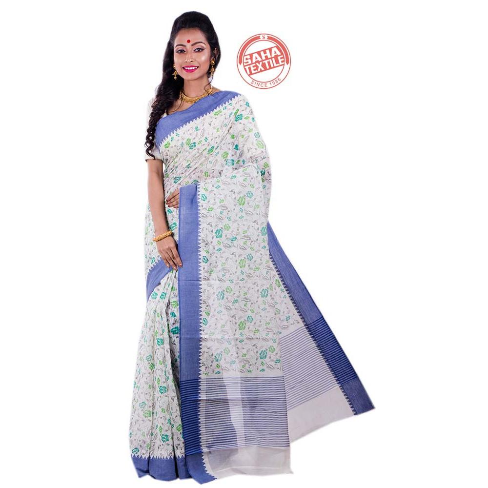 adc4e41e55 Sahaj Pure Cotton Printed Saree-S5005